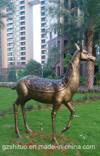 Polyresin Deer Statue2, Outdoor Garden Polyresin Sculpture Painting Decoration pictures & photos