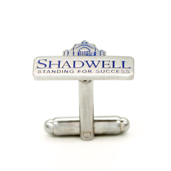 High Quality Nickle Square Metal Cufflink Engraved Gift in Box pictures & photos