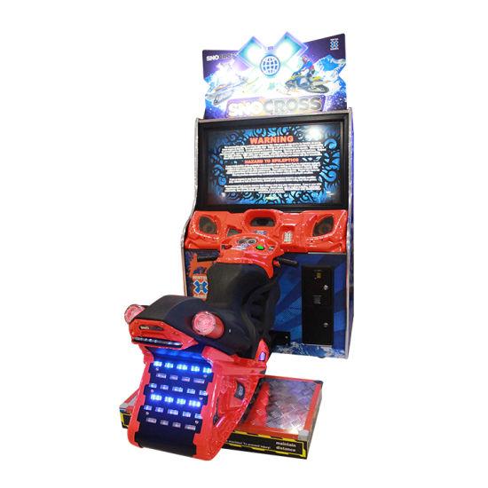 Arcade Game Machine Snow Motorcycle Driving Motion Simulator