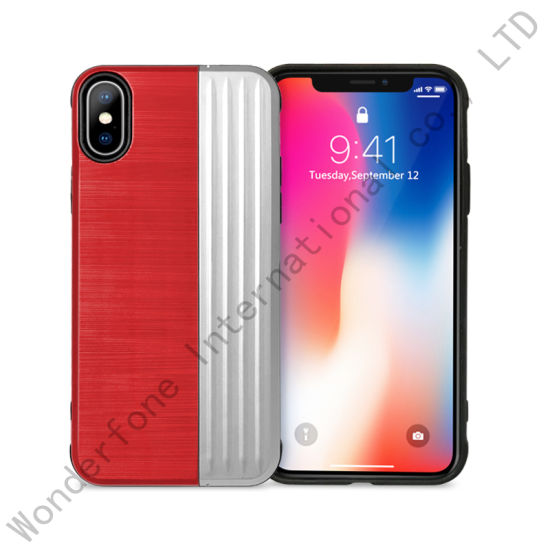 2018 New Arrival 2 in 1 Hybrid Back Case Cover with Kickstand for iPhone Xs/Xs Plus