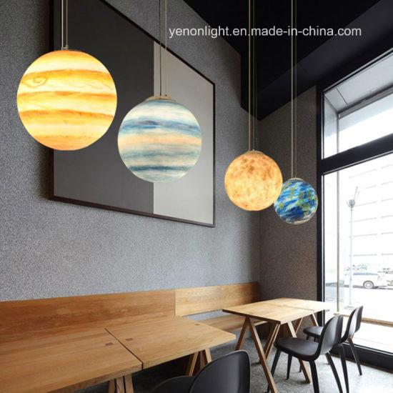Poly Resin Pendant Lighting Planet Pendant Lamp