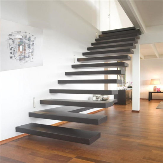 Glass or Wooden Tread Floating Staircase Design