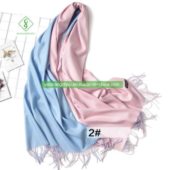 New Plain Tassel Detail Ladies High Quality Cashmere Hijab Shawl Scarf