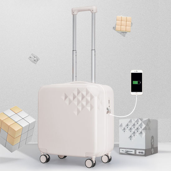 Mixi Distributor Wholesale Carry on Suitcase with USB Charging Port Fashion Travel Trolley Rolling Smart Luggage