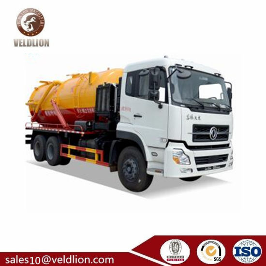 6X4 10-Wheels Heavy Duty Used Dongfeng 20000L Sewage Suction Tanker Truck pictures & photos