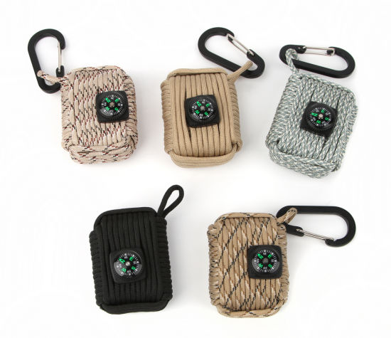 Multi-Functional Survival Key Chain Paracord with Compass