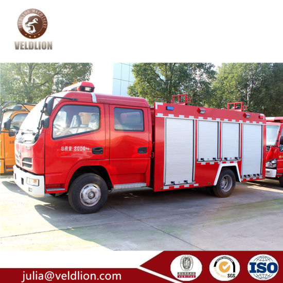 Dongfeng Fire Fighting Truck, 2000 Liters 2cbm Mini Foam Fire Truck