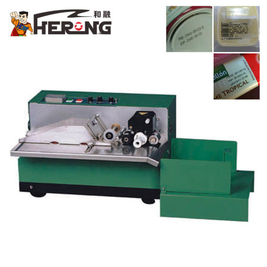 Hero Brand Small Date Coder Machine Digital Online Hot Stamping Foil Dk-1100 Ink Roll Batch No. Mineral Water Bottle Code Printer