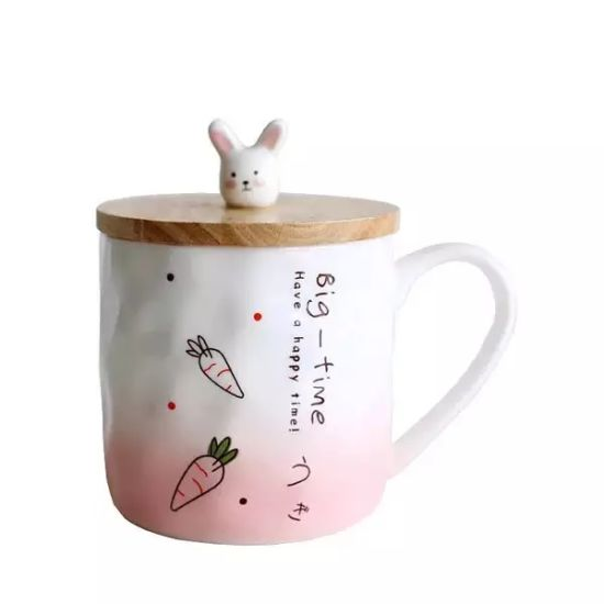 2018 New Embossed Milk Cup Cute Cartoon Cat Relief Ceramic Cup pictures & photos