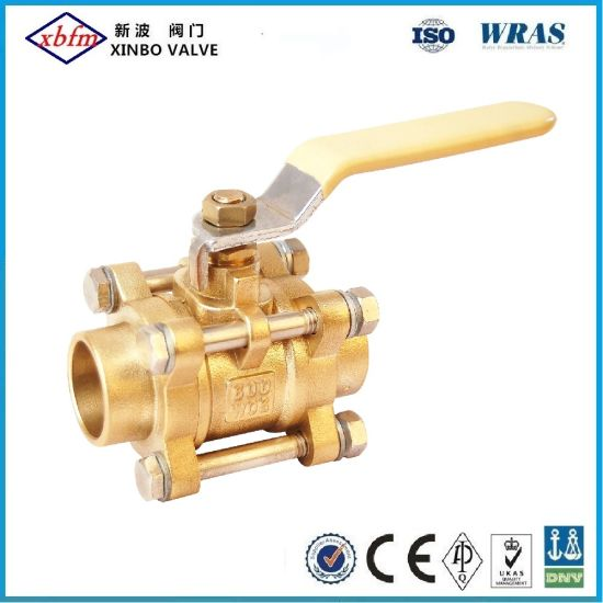 Brass 3PCS Solder End Ball Valve Chinese Factory Supplier pictures & photos