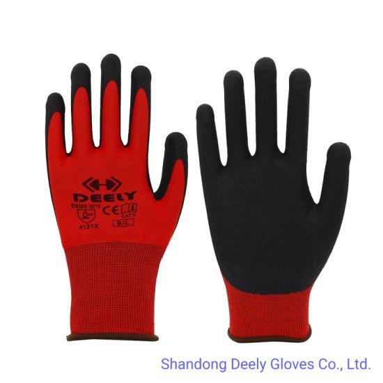 Sandy Nitrile Gloves in 13 Gauge Polyester Liner Multicolor