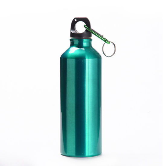 Aluminum Alloy 750ml Bike Water Bottle for Sports Cycling Mountain Biker with Carabiner