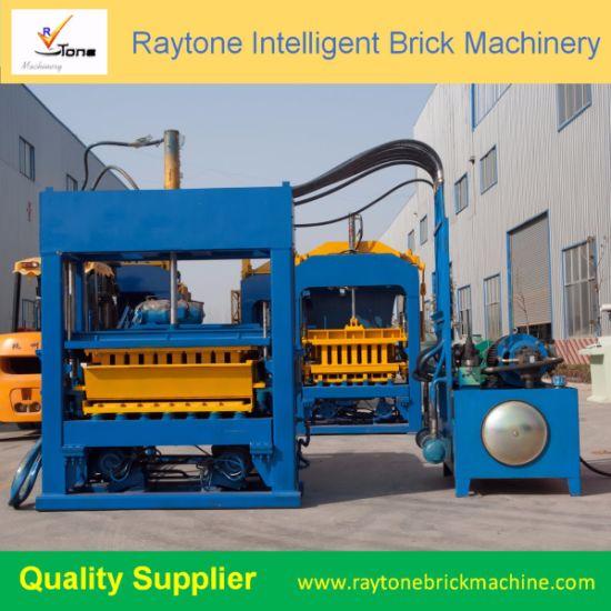 Qt5-15 Automatic Hollow Curbstone Block Making Machine Brick Forming Machine