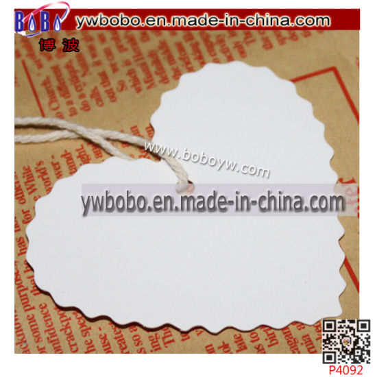 Kraft Paper Gift Hang Tags Wedding Luggage Printed Label Birthday Card (P4092) pictures & photos