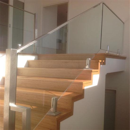 China Modern Design Frameless Glass Staircase Balustrade Handrails Stair Glass Guardrail China Handrails And Balustrades Railing Glass Panels