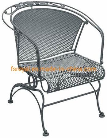 Wholesale Outdoor Leisure Patio Resort Hotel Restaurant Balcony Steel Mesh America Bistro Chair Furniture