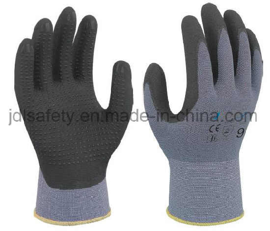 Builder Mate Breathable Back Comfort Wear Sandy Latex Dipped Cut Resistant Safety Work Gloves