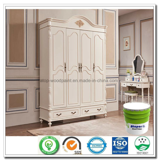 UV Spray Coating Wood White Anti Yellowing Paint For Cabinet MDF Plywood Furniture  Moulding