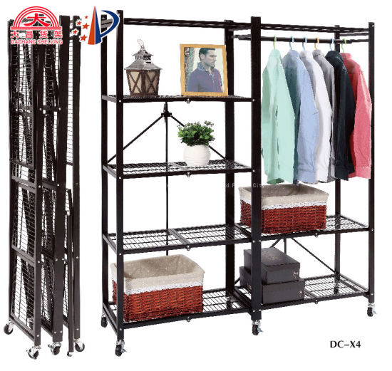 Stainless Steel Foldable Storage Metal Light Duty Rack