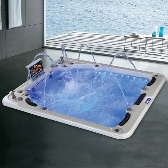 China Modern Luxury Tv Spa Indoor Hot Tubs Sale 5 Person China Spa Tub Spa