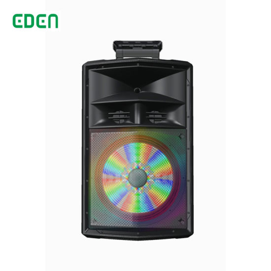 Ce RoHS Wireless Professional Portable Rechargeable DJ Karaoke Sound Box Trolley Bluetooth PA Speaker with LED Light ED-1501