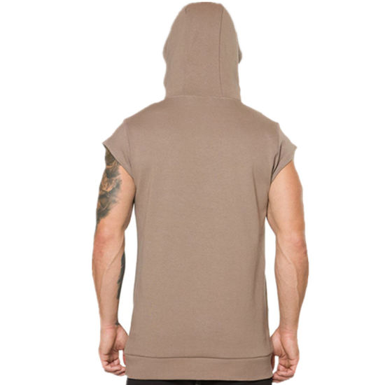 Mens Solid Color Workout Hoodies Hooded Leisure Slim Fit Pullover Sweatshirts