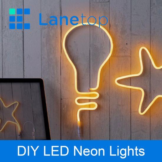Bulb Design Four Color USB LED Neon Light