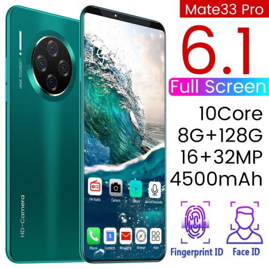 Wholesale Original 5g Mobile Phone for OEM Customized Smartphone Mate33 New Smart Phone The Original Dual SIM Cell Phone