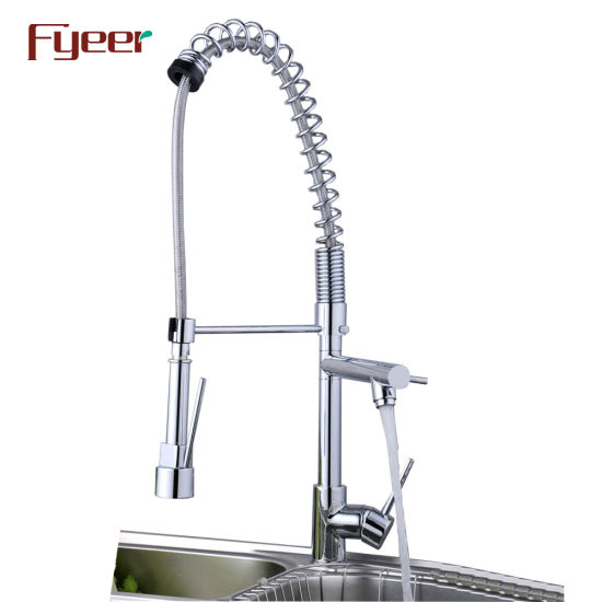 Big Size Solid Brass Pull-Down Spray Kitchen Sink Faucet (QH0783-2)