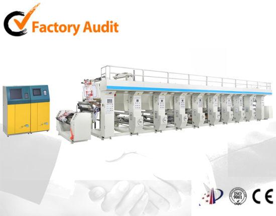 Gravure/Rotogravure Printing Machine for Film Paper Nylon Cellophane PE OPP PVDC Pet PVC