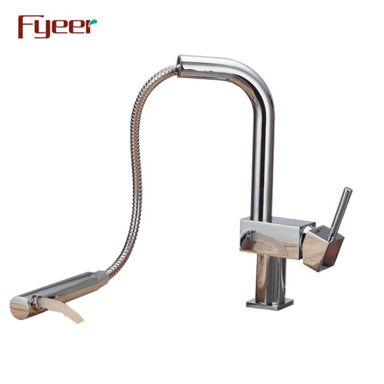 Fyeer Square Body Kitchen Faucet with Pull out Spray