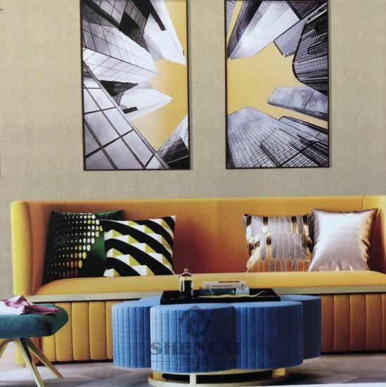 Linen Jacquard Hotel Engineering Wall Cloth