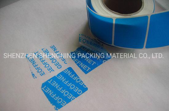 Various Tamper Evident Printing Label Warning Label Adhesive Label