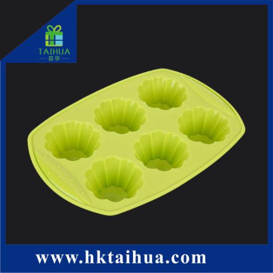 Promotion Six Hole Silicone Rubber Cake Mold