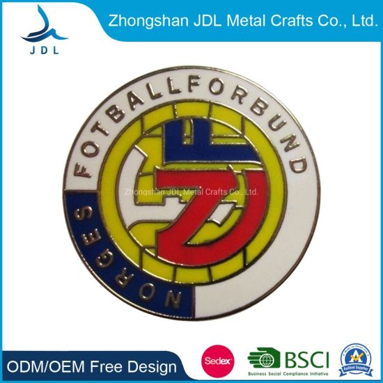 Zinc Alloy Die Casting Nickle Plated Metal Product Publicity Pin Badge for Giftworld Series Baseball Souvenir Metal Printed Pin Badge in (295)