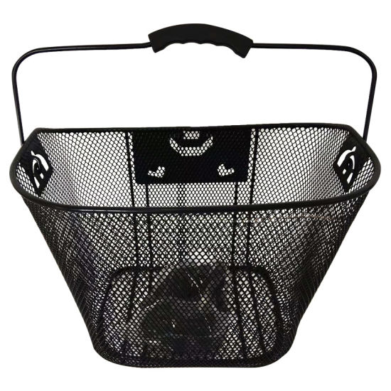 Popular Front Steel and Mesh Bicycle Basket with Handle and Qr of Bicycle Parts