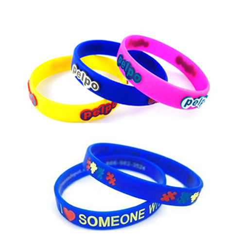 Personalized Debossed Silicone Wrist Band Silicone Bracelet