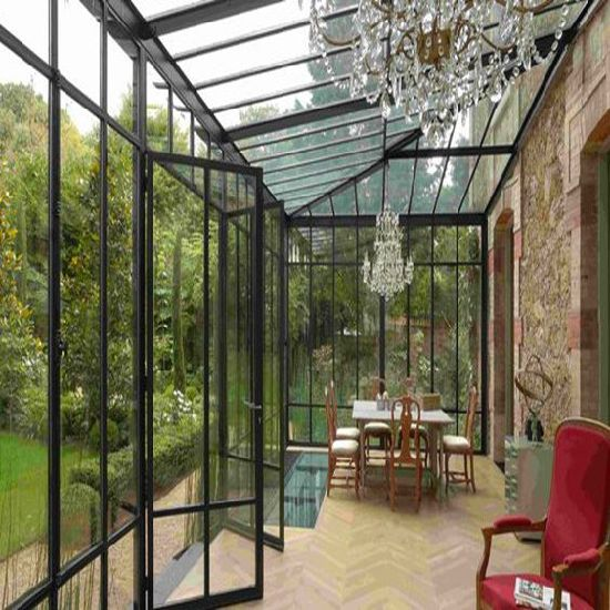 China modern european design prefabricated sunrooms for Prefabricated garden rooms