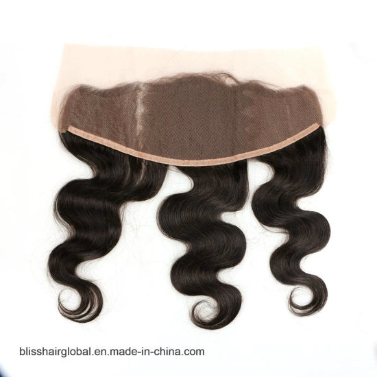 Bliss Hair 13X4 Lace Frontal Three/Free/Middle Part Cheap Swiss Lace Frontal Body Wave Indian Virgin Human Hair Frontal Pieces pictures & photos