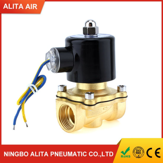 2/2 Way Direct Acting 1/2 Inch Brass Body Water Solenoid Valve