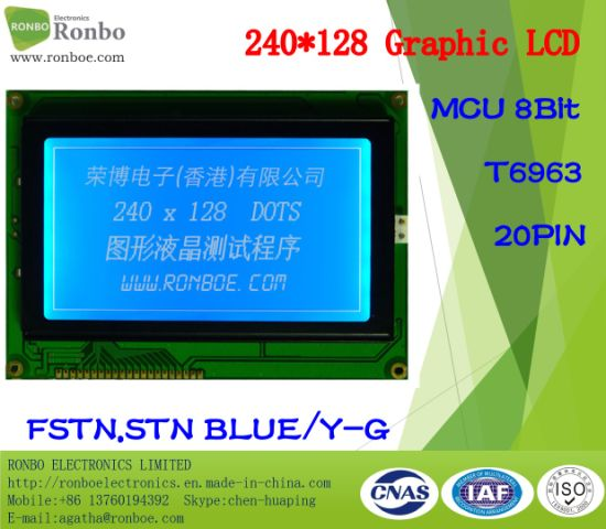 240X128 COB Graphic LCD Screen, T6963, 20pin for POS, Doorbell, Medical pictures & photos