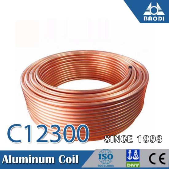 C12300 Red Copper Tube Coil for Water Tube Freezer Heater