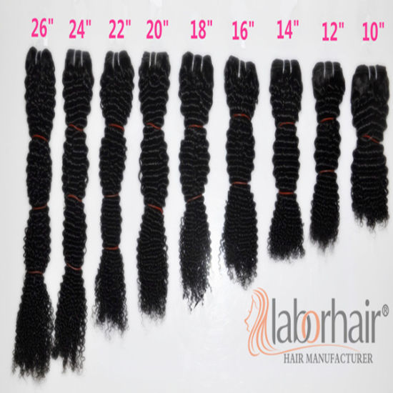 Labor Hair Products Brazilian Hair Weave Bundles Kinky Curly Virgin Hair 105g, Top Human Hair Extension Bundles pictures & photos