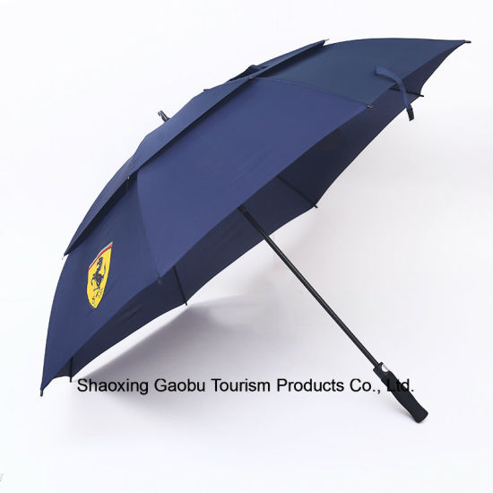 Auto Open Advertising Golf Umbrella with Window pictures & photos