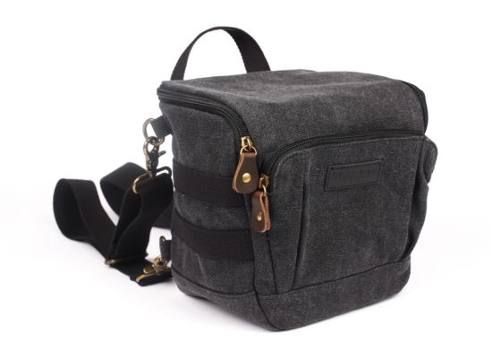 Washed Canvas Fashionable Camera Digital Waterproof Shockproof Bag (RS-PL16043)