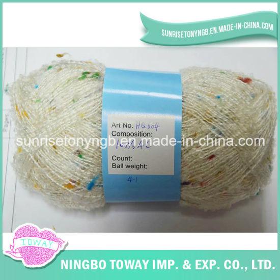 Baby Worsted Dyed Colour Bead Fancy Acrylic Yarn