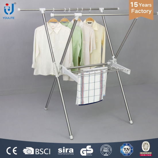 79bb9d8425ed China Foldable Stainless Steel Extendable X-Type Clothes Hanger Suit ...