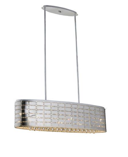 Decorative Oval LED Pendant Light with Crystal Drop (SL-PL121)