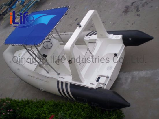 Ilife (CE) 22FT 6.8m Inflatable Best Fiberglass Rigid Hull Yacht Fishing Price Rescue Rib Boat for Sale