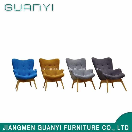 Wood Leg High Back Chair Restaurant Chair Bedroom Furniture
